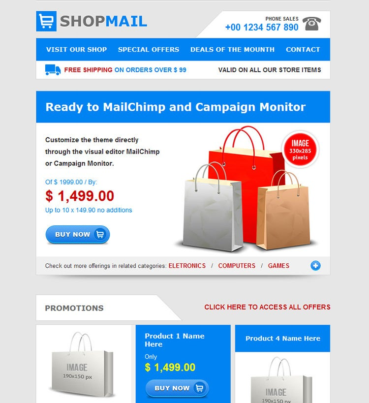 20 simple html email templates free premium templates for Business promotion email template