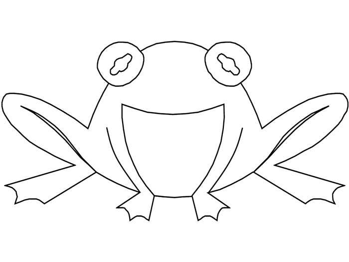 frog coloring page template