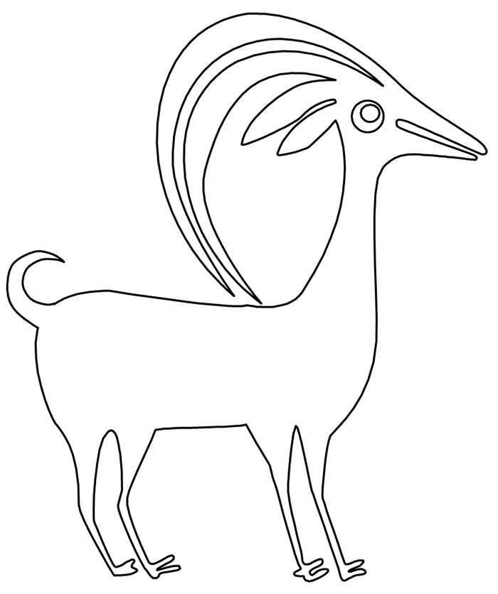 goat coloring pae template