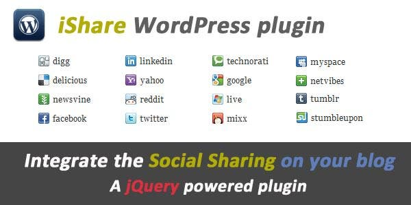 ishare jquery sharing buttons download