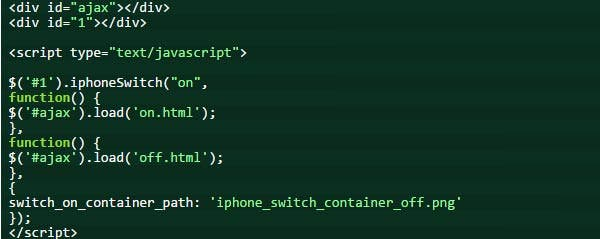 jquery iphone style ajax switch