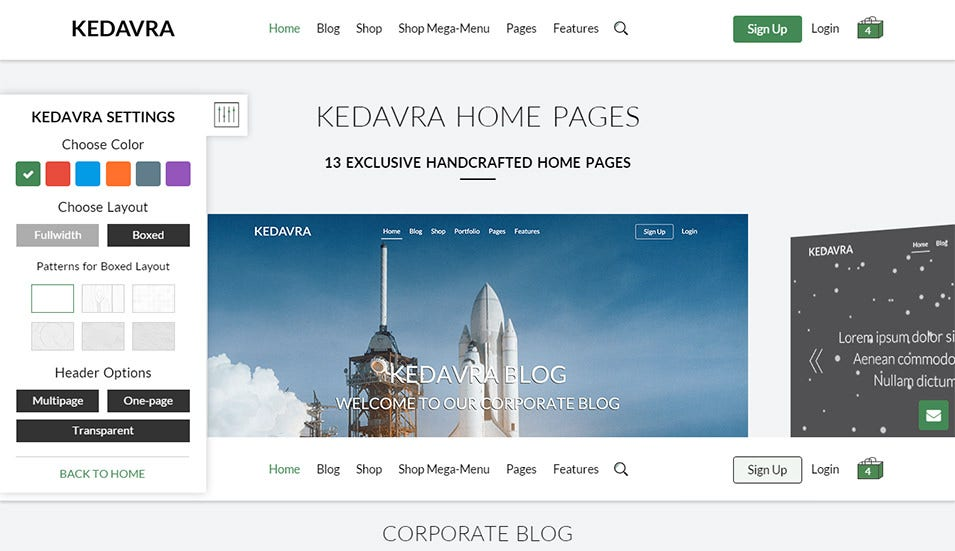 kedavra multipurpose html5 template