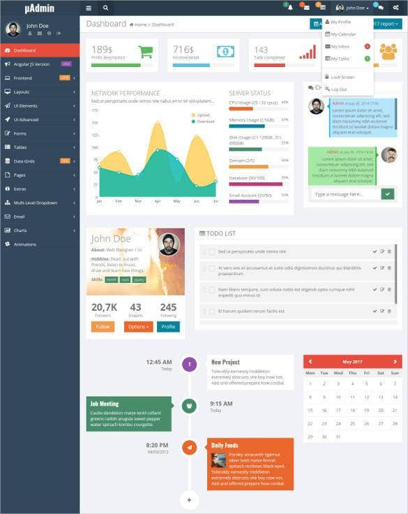 madmin multi style angularjs bootstrap admin templ