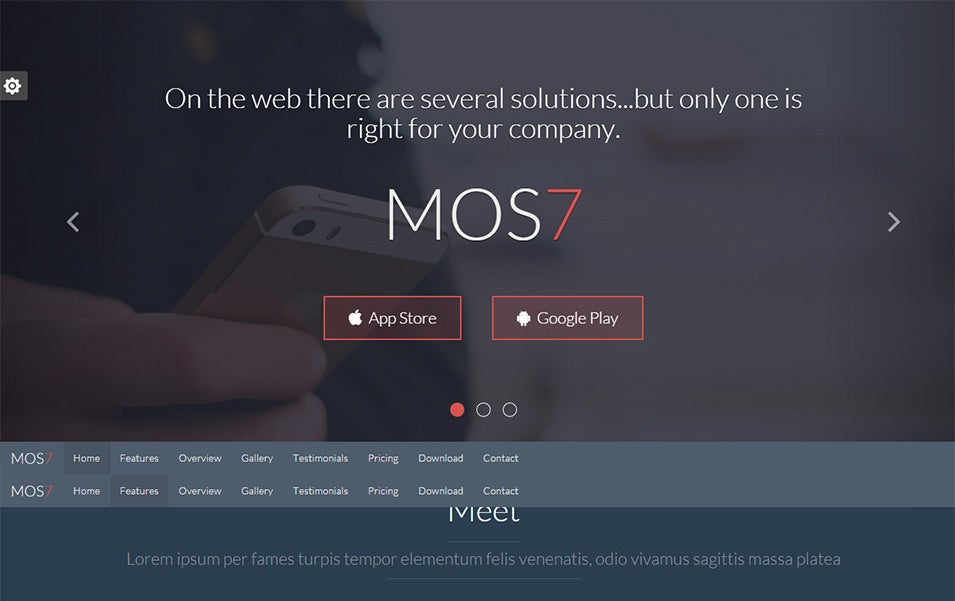 mos7 responsive app landing page