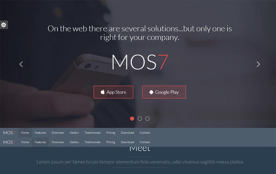mos7 responsive app landing page