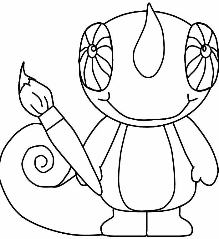 naught7y lizard coloring page template
