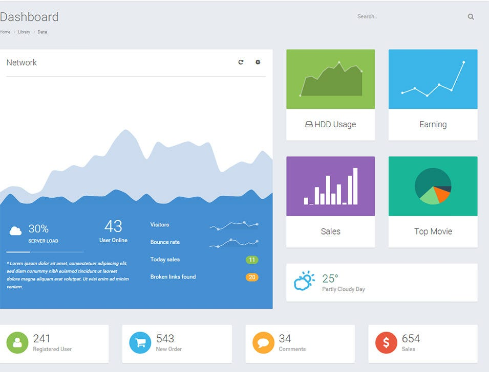 nifty responsive admin template