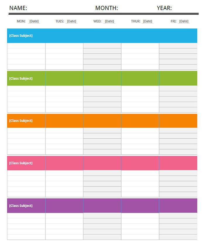 15+ Free Sample Weekly Schedule Word Template