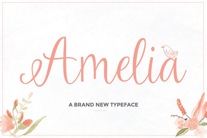 Amelia Script Wedding Font