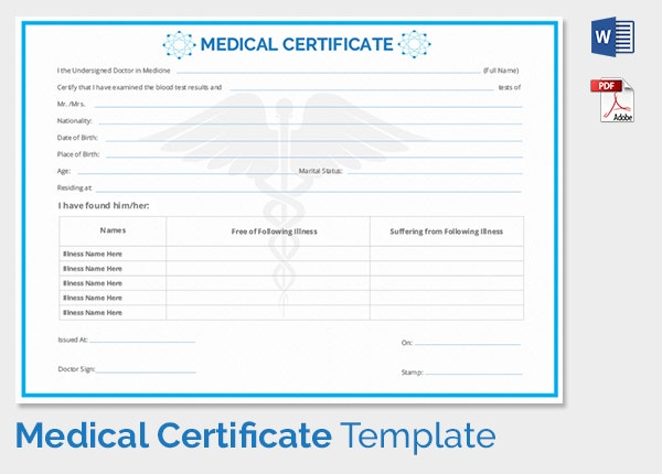 Medical Certificate Download for Free