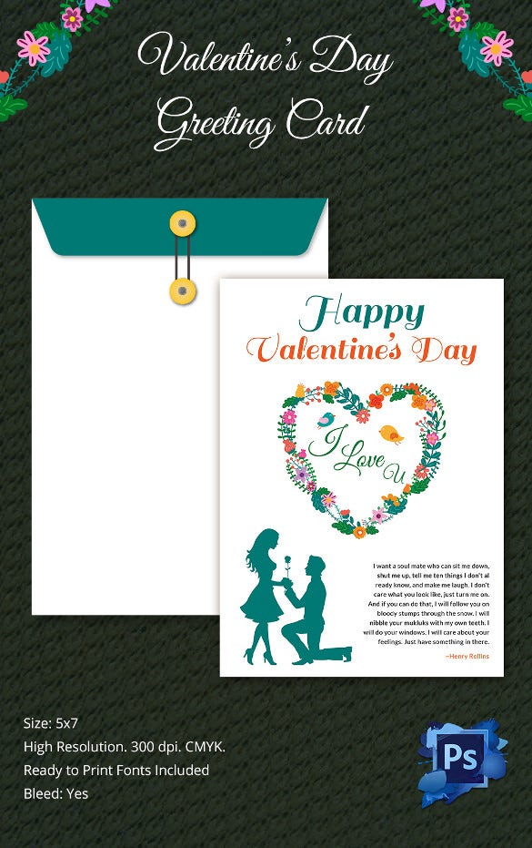 Stunning Valentines Day Greeting Card