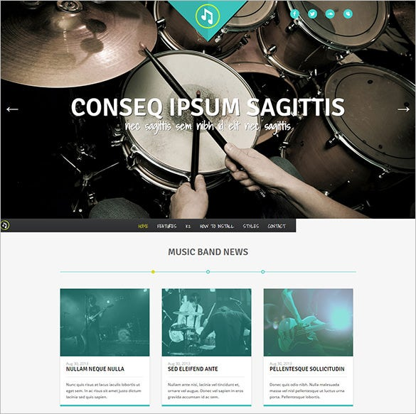 music band joomla template download