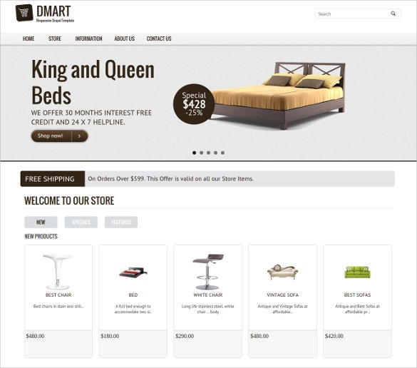 html5 drupal commerce template