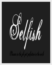 Selfish Font Calligraphy Free Download