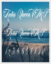 Anha Queen VMF Calligraphy Tattoo