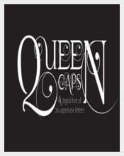 Queen Caps Font