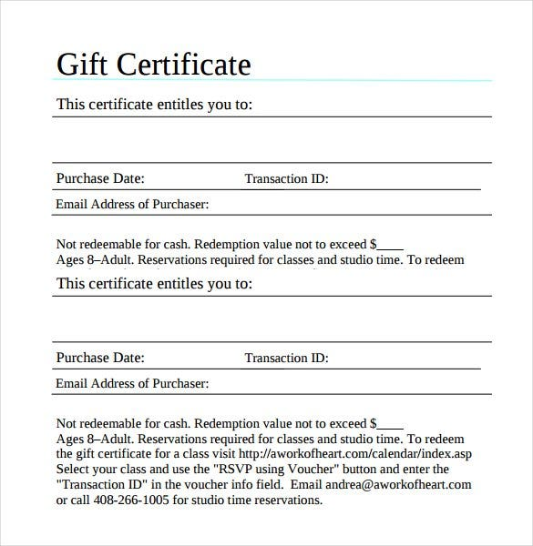 82 free printable certificate template examples in pdf word blank gift certificate template yadclub Images