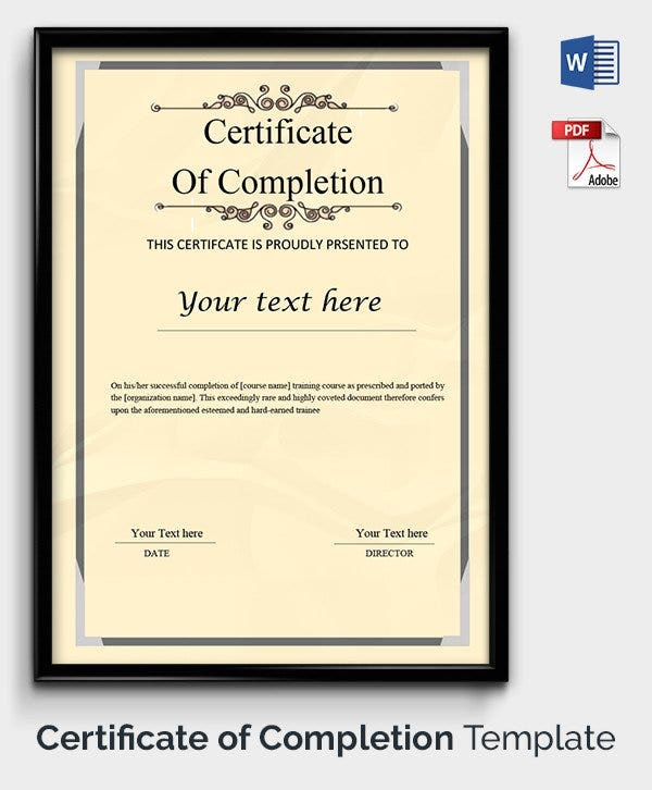 49 Free Printable Certificate Template Examples in PDF Word – Certificates Free Download Free Printable