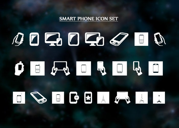 Smart Phone Icon Set