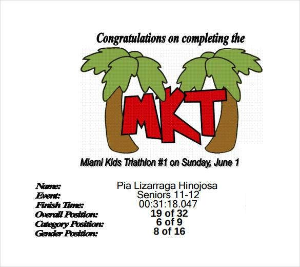 Free Certificate For Kids Template