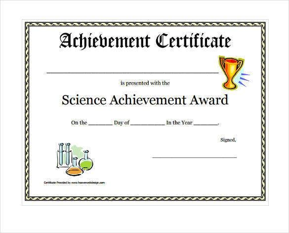 61 free printable certificate template examples in pdf word printable science achievement award certificate download yadclub Gallery