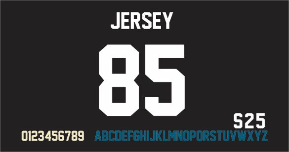 jersey m54 cool number font