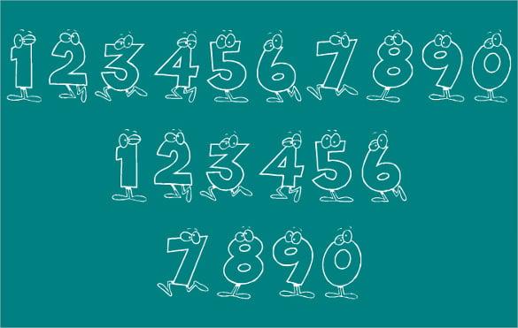 download cartoon numbers font