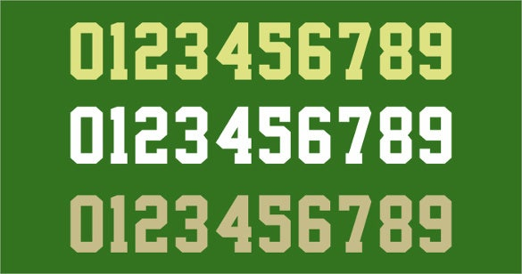 free download cute number fonts