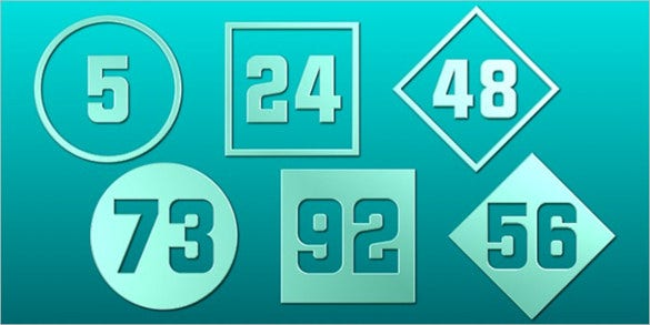 stylish number font free download