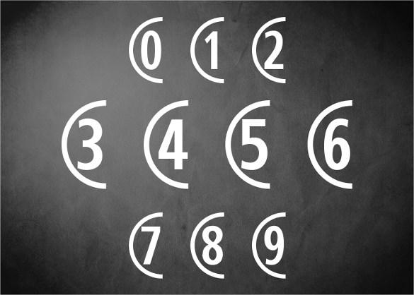 decorative number font download for free