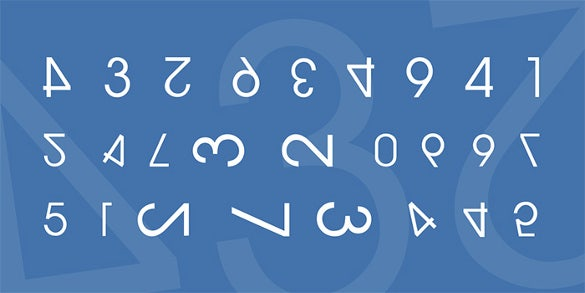 download numero different number font