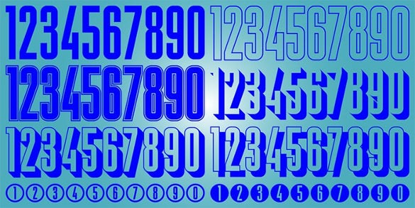 display digits five stylish number font free download