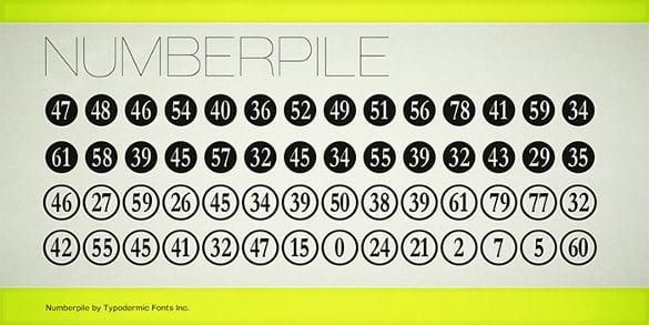 30+ Number Fonts - TTF, OTF | Free & Premium Templates