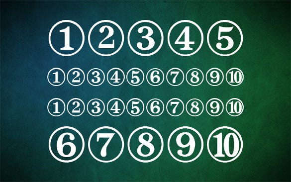 31 number fonts ttf otf free premium templates for Classic house number fonts
