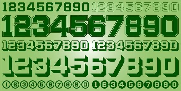 download display digits two number design font