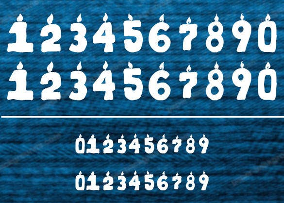 kr first years dings number font download