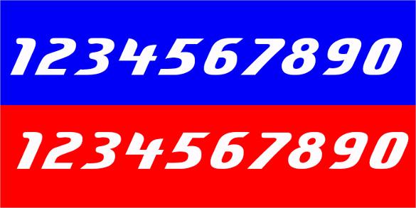 cursive number font download for free