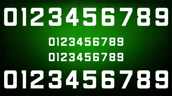 free carre numbers font download