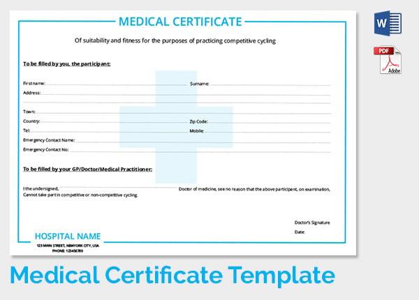Medical Awareness Certificate Template