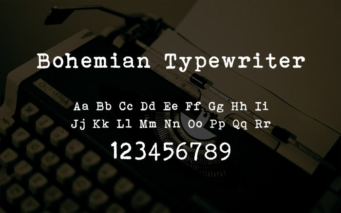 best typewriter fonts