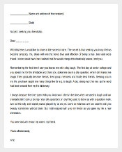 Friendship Letter Template Free Word Format