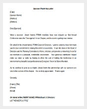 Sponsorship Thank You Letter Template Free