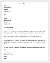 Business Reference Letter Template Download