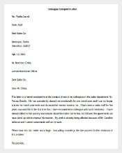 Colleague Complaint Letter Template Word