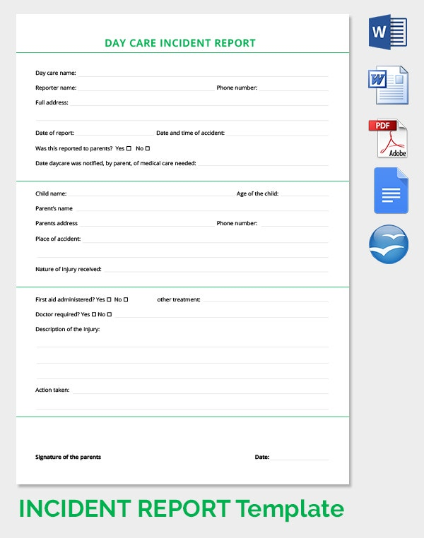 Incident Report Template 34 Free Word PDF Format Download – IT Report Template