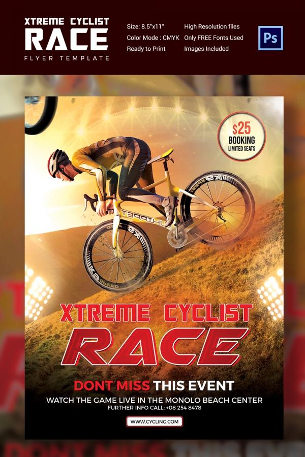 Xtreme Cyclist Race Flyer