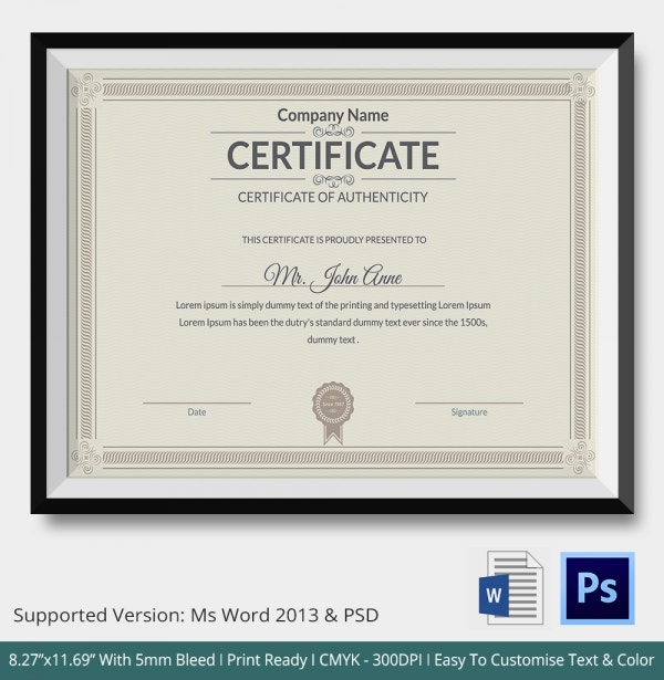 Warranty Certificate Template. Sample Warranty Certificate