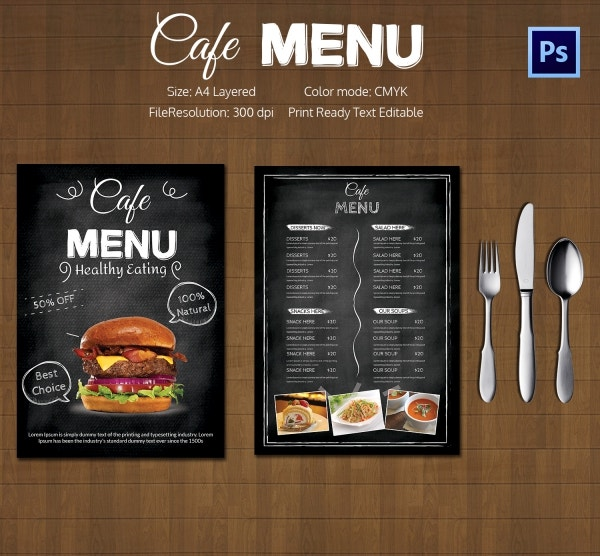 Restaurant flyer template 56 free word pdf psd eps for Cafe menu design template free download