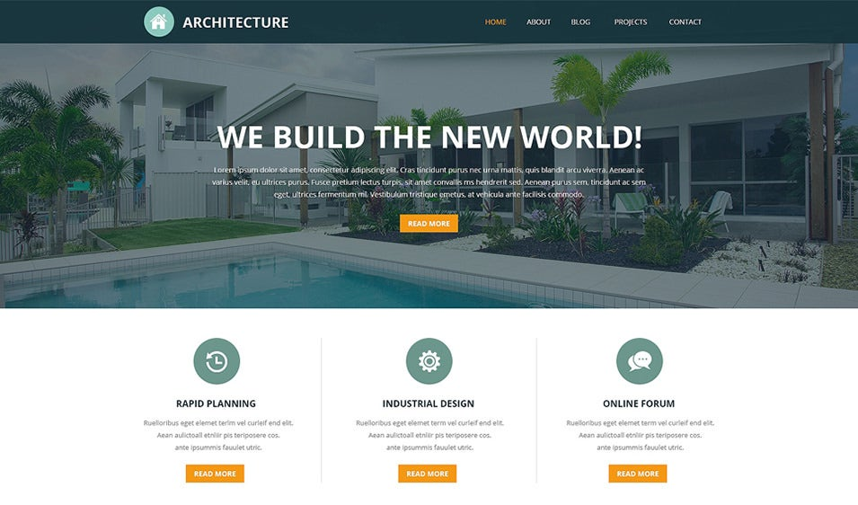 Architectural Designs Joomla Template