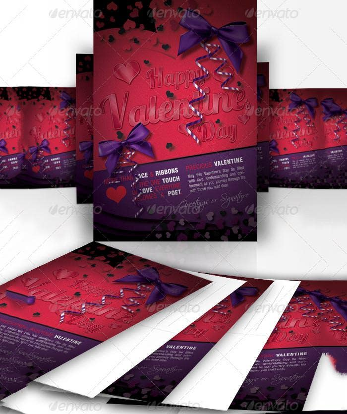 abstract valentines day greeting card designs
